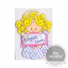 AFM - cute blond hair angel I - approx.8x6cm