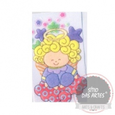 AFM - cute blond hair angel III - approx.8x6cm