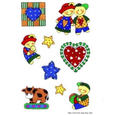 Sticker - AD137-patchwork - 10,5x15,5cm
