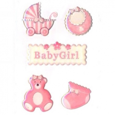 Epoxy sticker - baby girl