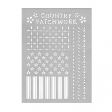 Stencil - 80446-country patchwork - 20x30cm